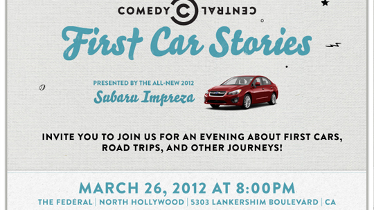Comedy Central's First Car Stories